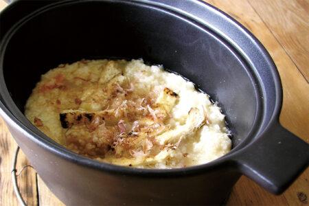 米と粟のそば茶粥