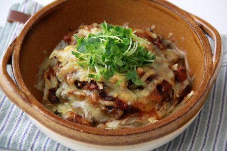 鯖缶の味噌カレードリア