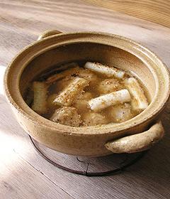 胡麻味のネギマスープ