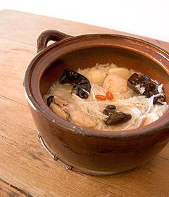 参鶏湯(サンゲタン)風スープ雑炊